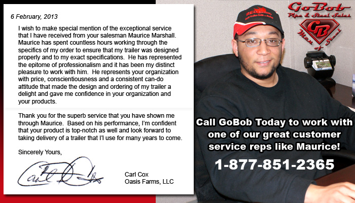Call GoBob Today to speak with knowledgable customer service reps like Maurice