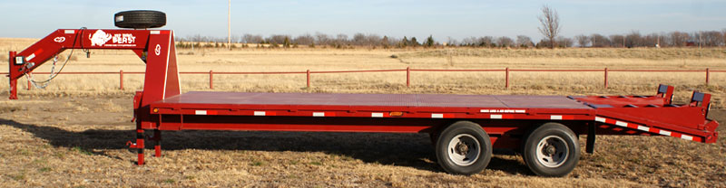 Red Rhino Flatbed Gooseneck Trailers By Gobob Pipe Steel Sales