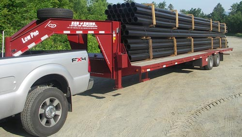 Red Rhino Flatbed Gooseneck Trailers By Gobob Pipe