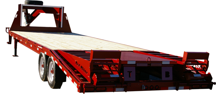 Red Rhino 26 foot, 7K with six foot ramps, pop-up center, LED lights and spare tire mounted.