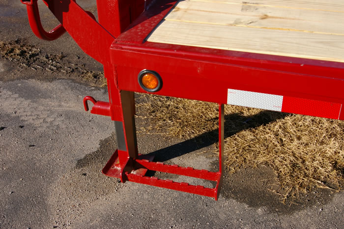 Red Rhino - Flatbed Gooseneck Trailers by GoBob Pipe & Steel